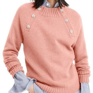 NWT Crewneck sweater with jeweled buttons Size XXS
